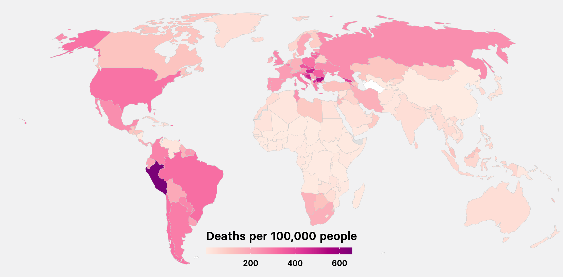 World deaths map