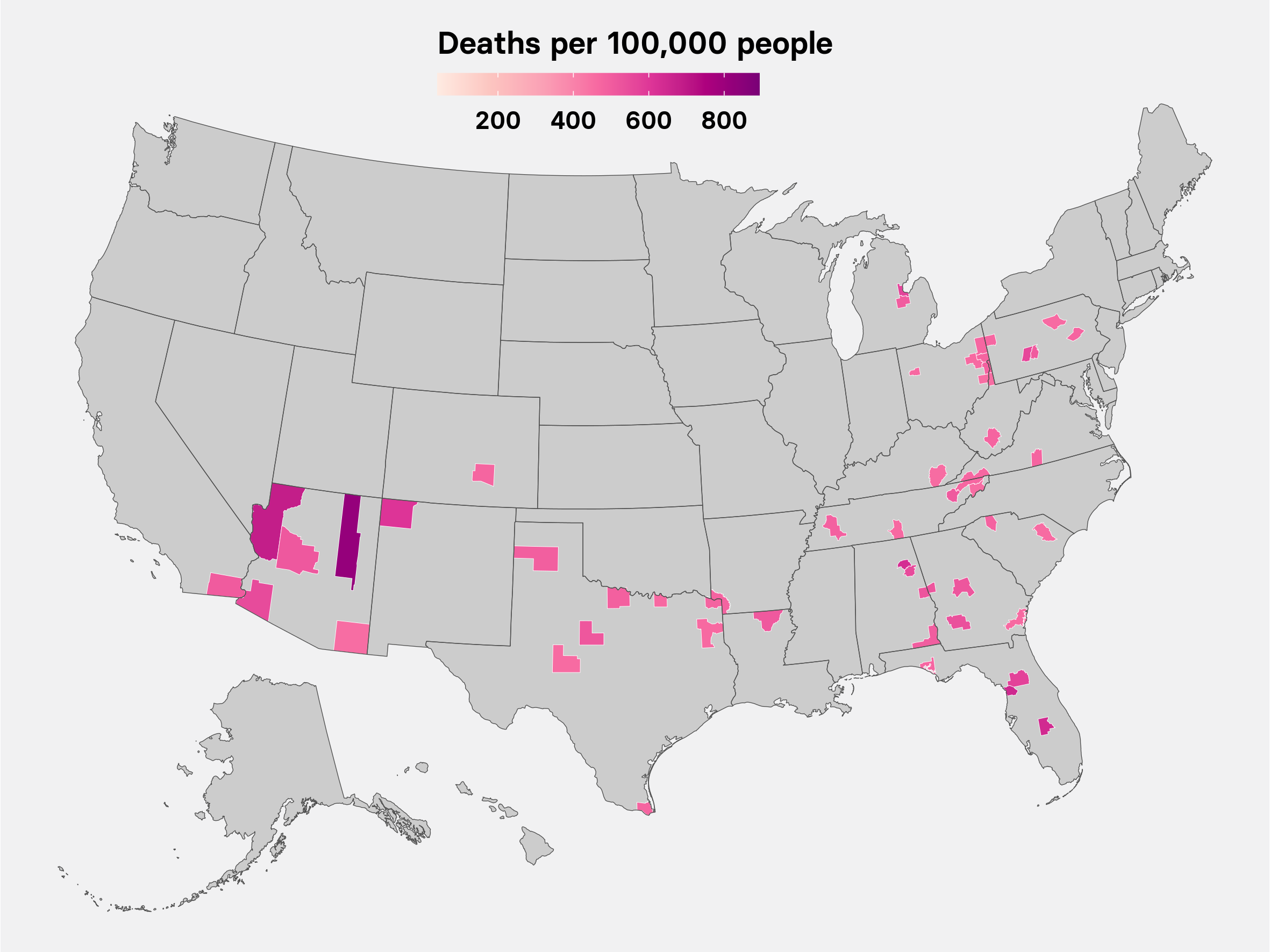 worst cities deaths map